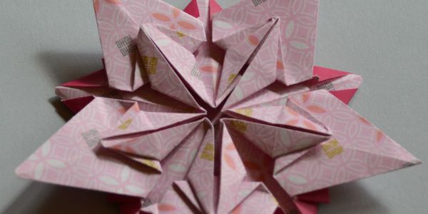 Pink Origami Star